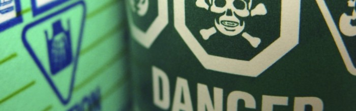 Danger Warning: Toxic/Flammable Label